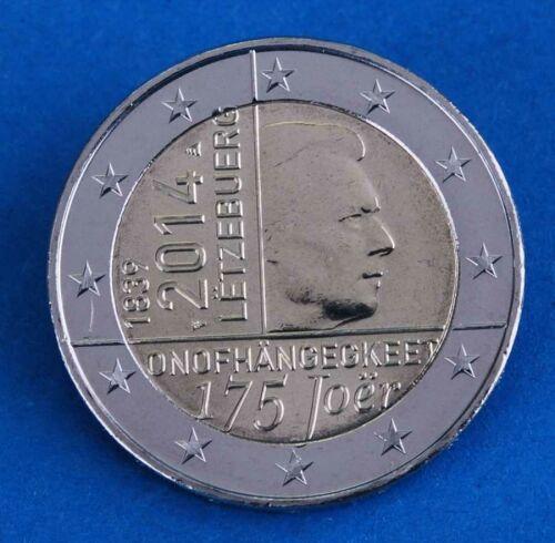 "Luxemburg 2 Euro 2014 ""Unabhängigkeit"" unc."
