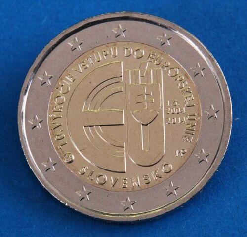 """Slowakei 2 Euro 2014 """"10 Jahre EU Beitritt"""" unc."""