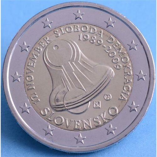 """Slowakei 2 Euro 2009 """"Revolution"""" unc."""