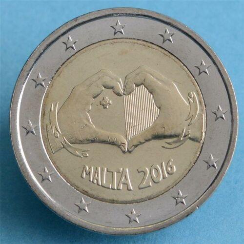 "Malta 2 Euro 2016 ""Liebe"" unc."