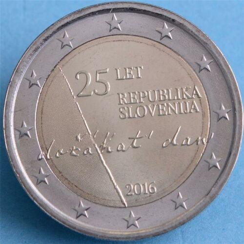 """Slowenien 2 Euro 2016 """"Unabhängigkeit"""" unc."""