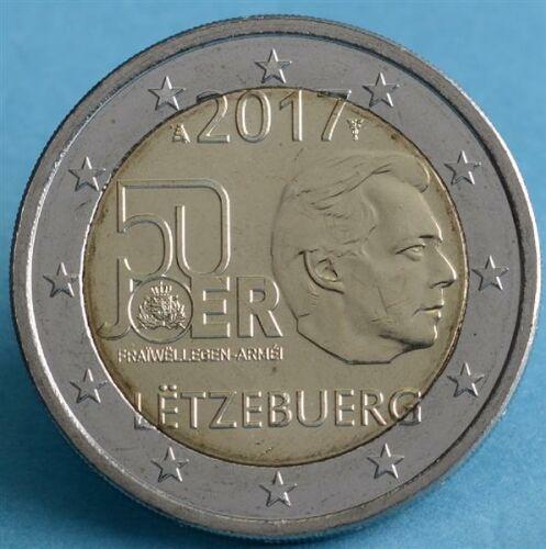 """Luxemburg 2 Euro 2017 """"Freiwilliger Wehrdienst"""" unc."""