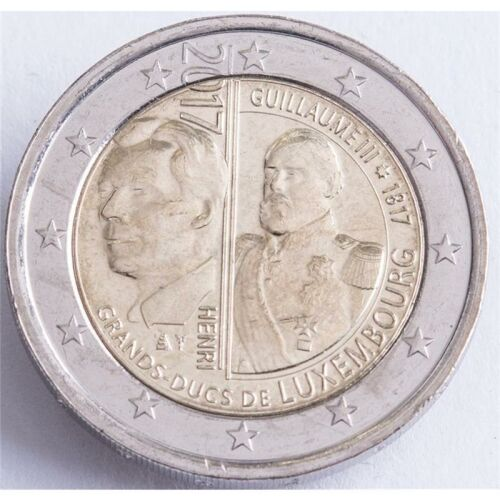 "Luxemburg 2 Euro 2017 ""200. Geburtstag GH Wilhelm III."" unc"