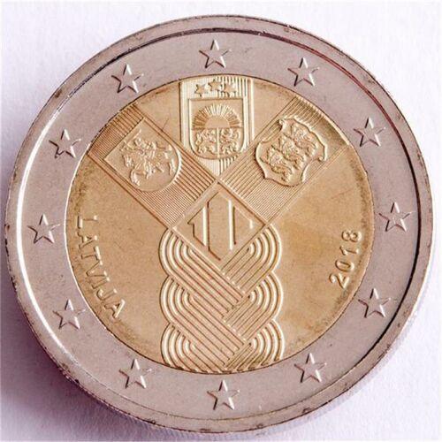 """Lettland 2 Euro 2018 """"100 Jahre Unabhängigkeit"""" unc."""