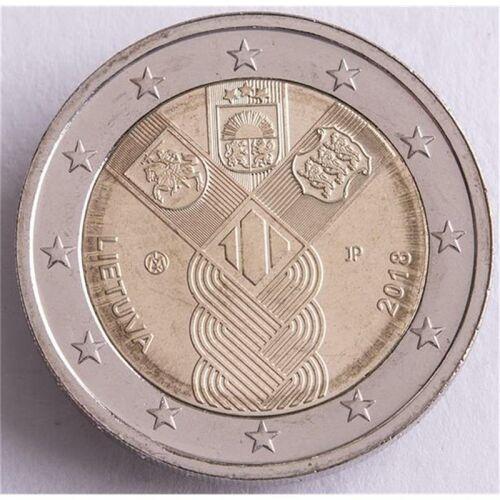 """Litauen 2 Euro 2018 """"100 Jahre Unabhängigkeit"""" unc."""