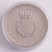 """Malta 5 Euro 2018 """"10 Jahre Euro """""""