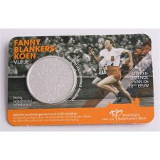 """Niederlande 5 Euro 2018 """"Fanny Blankers Koen"""" BU"""