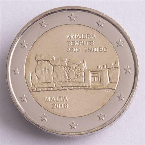 "Malta 2 Euro 2018 ""Mnajdra Tempel"" unc."
