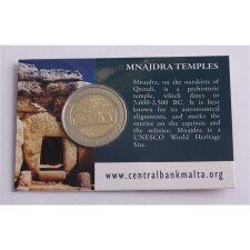 "Malta 2 Euro 2018 ""Mnajdra Tempel"" Coincard"