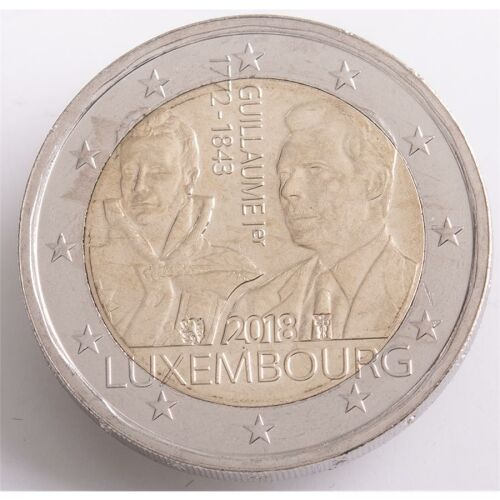 "Luxemburg 2 Euro 2018 ""175. Todestag Guillaume I."" unc."