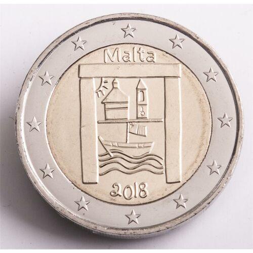 """Malta 2 Euro 2018 """"Kulturelles Erbe"""" unc."""