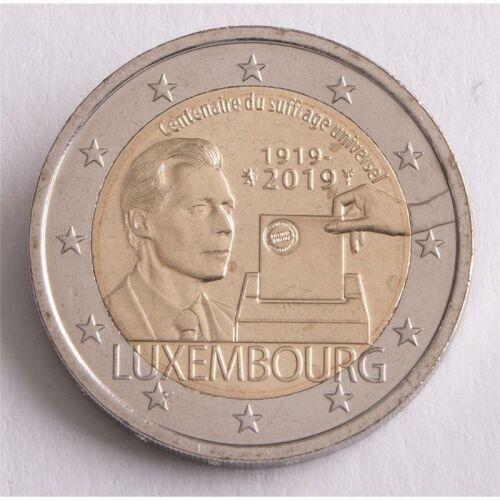 "Luxemburg 2 Euro 2019 ""Wahlrecht"" unc"