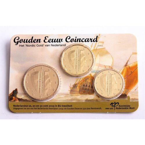 "Niederlande 80 Cent 2019 ""Golden Age"" Coincard"