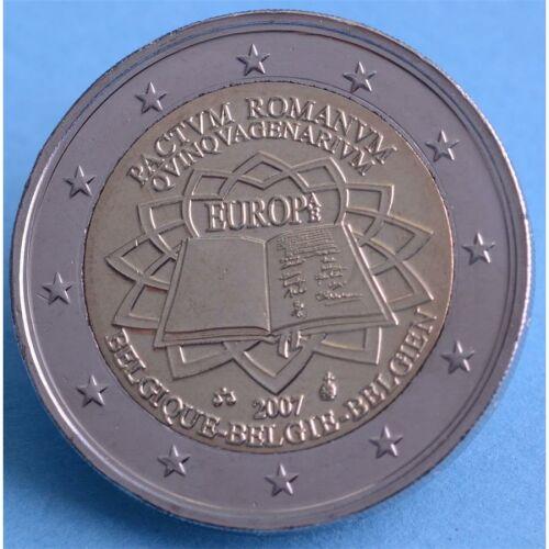 """Belgien 2 Euro 2007 """"Römische Verträge"""" unc"""