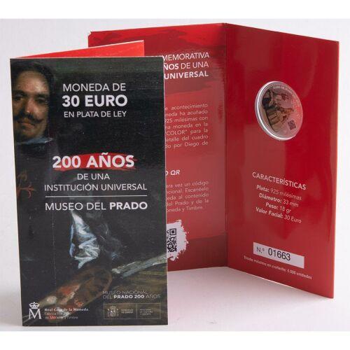"Spanien 30 Euro 2019 ""Prado Museum"" BU im Blister"