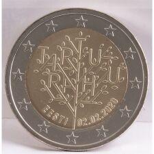 """Estland 2 Euro 2020 """"Frieden von Tartu"""" unc."""