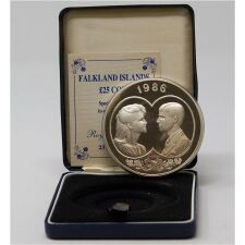 Falkland Islands 25 Dollar 1986 - Royal Wedding*