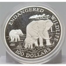 Cook Islands 100 Dollar 1991 - Wildlife - Elefanten*