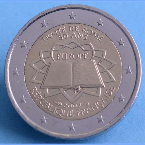 """Frankreich 2 Euro 2007 """"Römische Verträge"""" unc."""