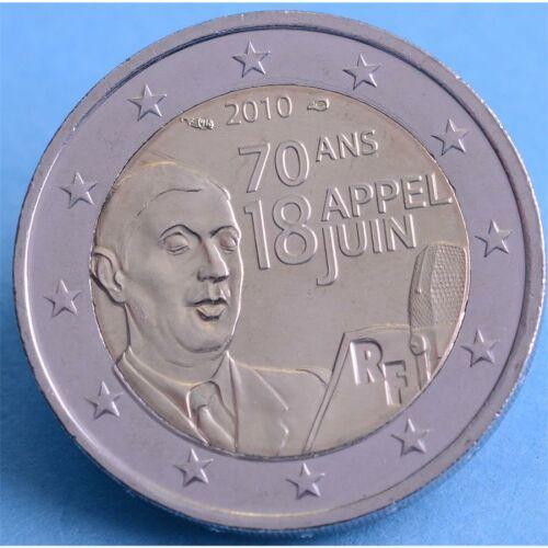 "Frankreich 2 Euro 2010 ""Charles de Gaulle"" unc."