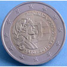 """Portugal 2 Euro 2010 """"100 Jahre Republik"""" unc."""