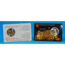Vatikan 50 Cent 2010 Coincard No.1