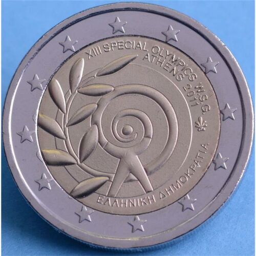 """Griechenland 2 Euro 2011 """"Special Olympics"""" unc."""