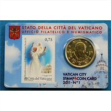 Vatikan 50 Cent 2011 Numiscard No.1
