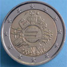 "Belgien 2 Euro 2012 ""10 Jahre Euro Bargeld"" unc."