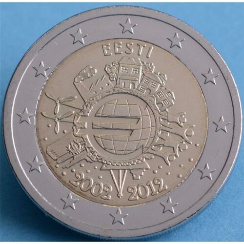 "Estland 2 Euro 2012 ""10 Jahre Euro Bargeld"" unc."