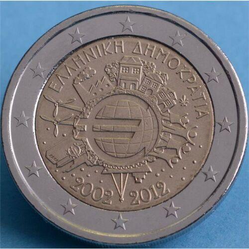 """Griechenland 2 Euro 2012 """"10 Jahre Euro Bargeld"""" unc."""