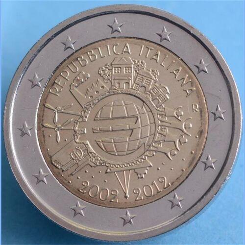 "Italien 2 Euro 2012 ""10 Jahre Euro Bargeld"" unc."