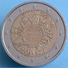 """Luxemburg 2 Euro 2012 """"10 Jahre Euro Bargeld"""" unc."""