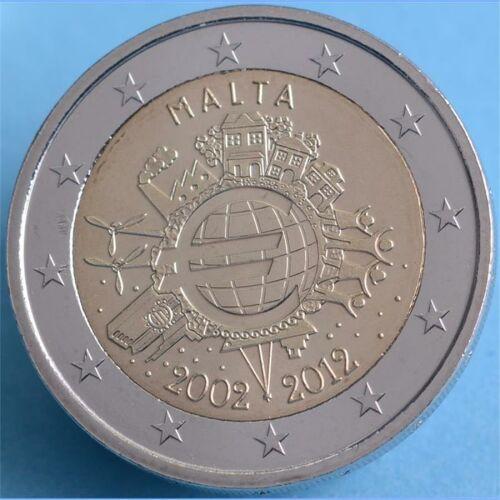 """Malta 2 Euro 2012 """"10 Jahre Euro Bargeld"""" unc."""