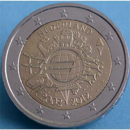 """Niederlande 2 Euro 2012 """"10 Jahre Euro Bargeld"""" unc."""
