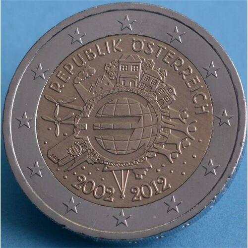"""Österreich 2 Euro 2012 """"10 Jahre Euro Bargeld"""" unc."""