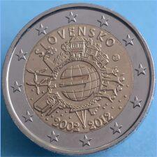 """Slowakei 2 Euro 2012 """"10 Jahre Euro Bargeld"""" unc."""