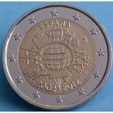 """Spanien 2 Euro 2012 """"10 Jahre Euro Bargeld"""" unc."""
