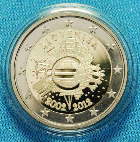 """Slowenien 2 Euro 2012 """"10 Jahre Euro Bargeld"""" PP"""