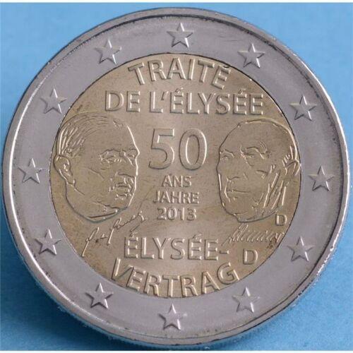 """Deutschland 2 Euro 2013 """"Elysee Vertrag A"""" unc."""