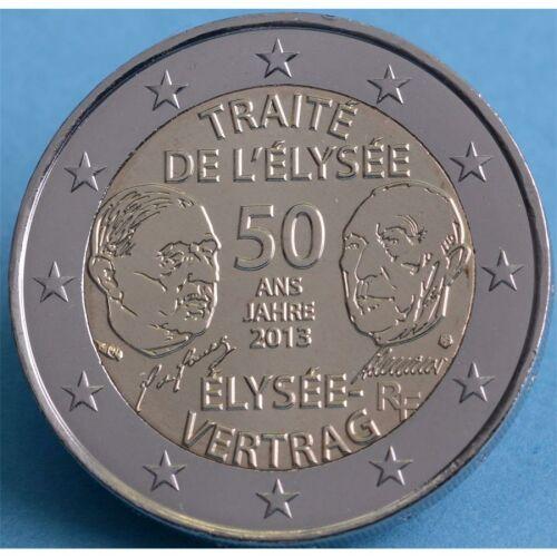 """Frankreich 2 Euro 2013 """"Elysee Vertrag"""" unc."""