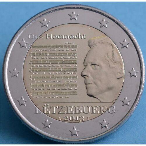 """Luxemburg 2 Euro 2013 """"Nationalhymne"""" unc."""